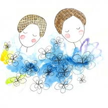 blue_flowers_illustration_freewildsoul