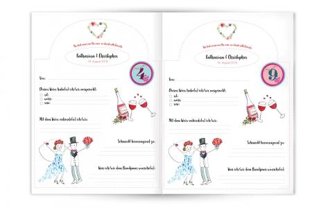 Illustration und Weinbuch | Hochzeitsgeschenk