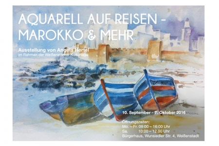 Visitenkarte und Plakate | Vernissage Angela Hertel