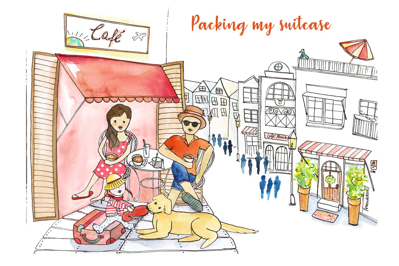 Header und Illustration | Reiseblog packingmysuitcase.com