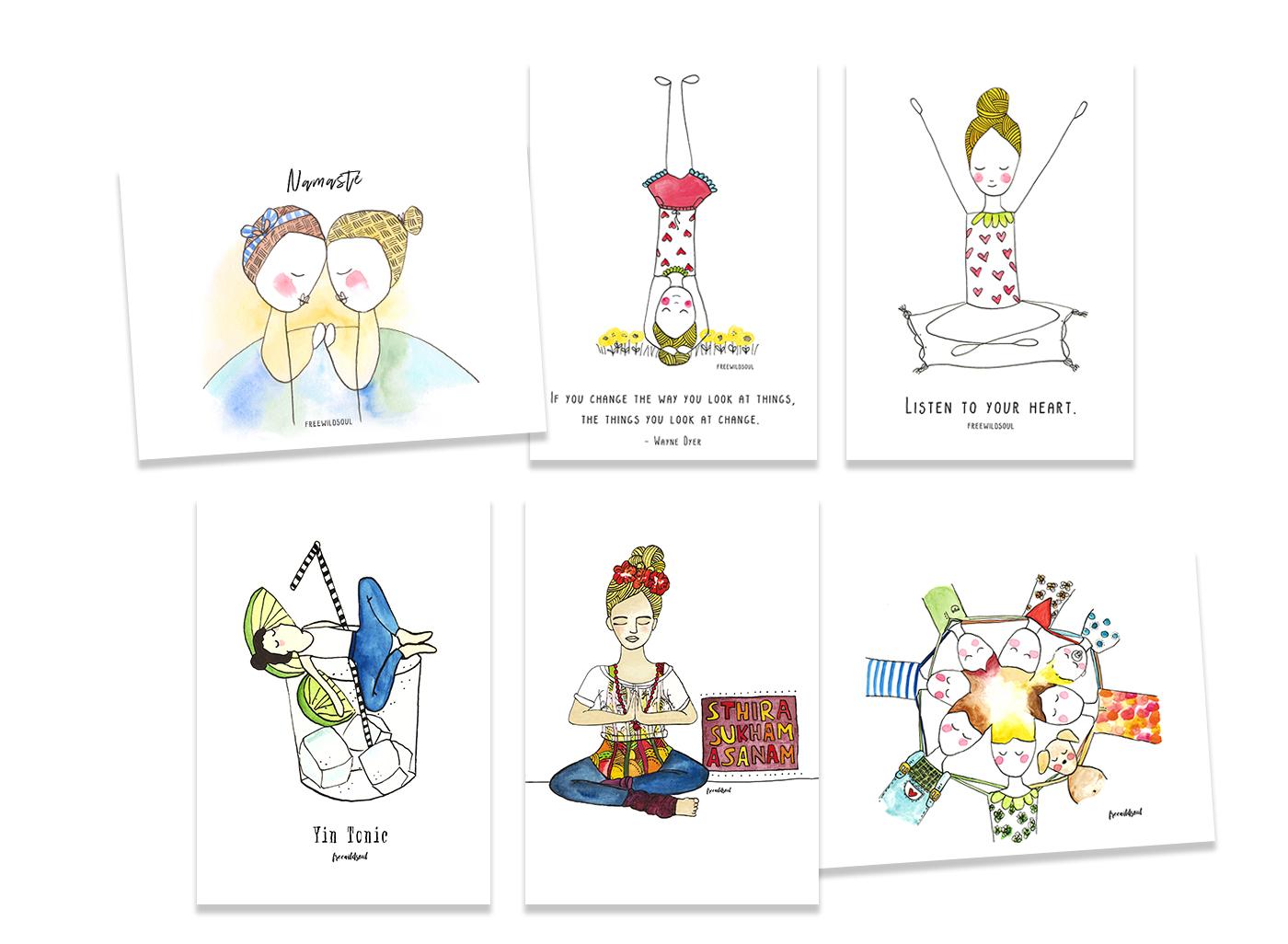 wellbeing_postcards_illustration_stefanie_hertel_freewildsoul